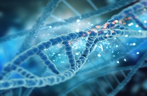 3D render of a medical DNA background